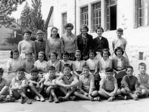 Ecole Louis Favre classes__Classe de Mme Gavard 5e 1959
