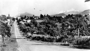 Route de Meyrin avec le Village